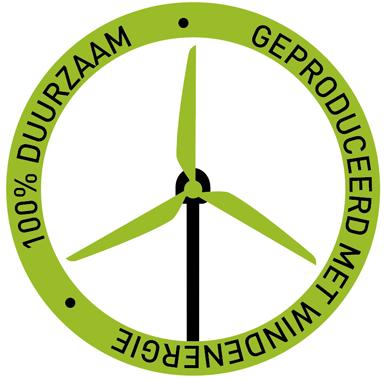 100% duurzaam Hollandse windenergie